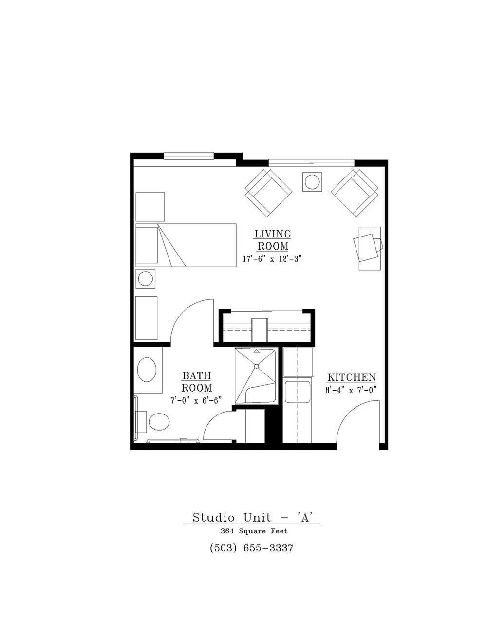 oregon city or senior living floor plans
