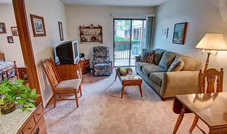 Apartment interior at Northglenn Heights Assisted Living in Northglenn