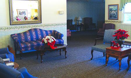 Oak Terrace Memory Care Living Room in Soulsbyville