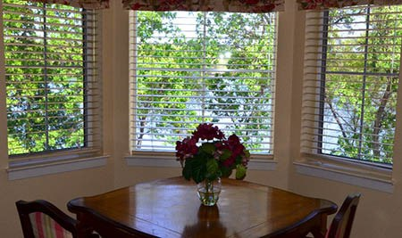 Breakfast nook in apartment at Windchime of Chico