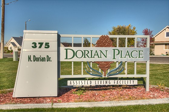 Sign at Dorian Place Assisted Living in Ontario