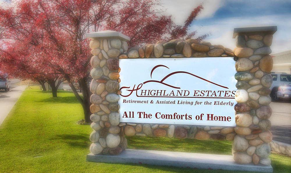 Entry Sign At Highland Estates in Burley