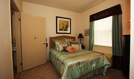 Bedroom at Senior-Living Apartments Elk Grove