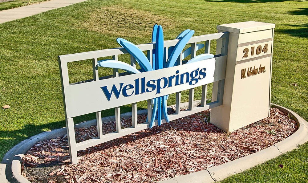 Front Property Sign at Wellsprings Assisted Living