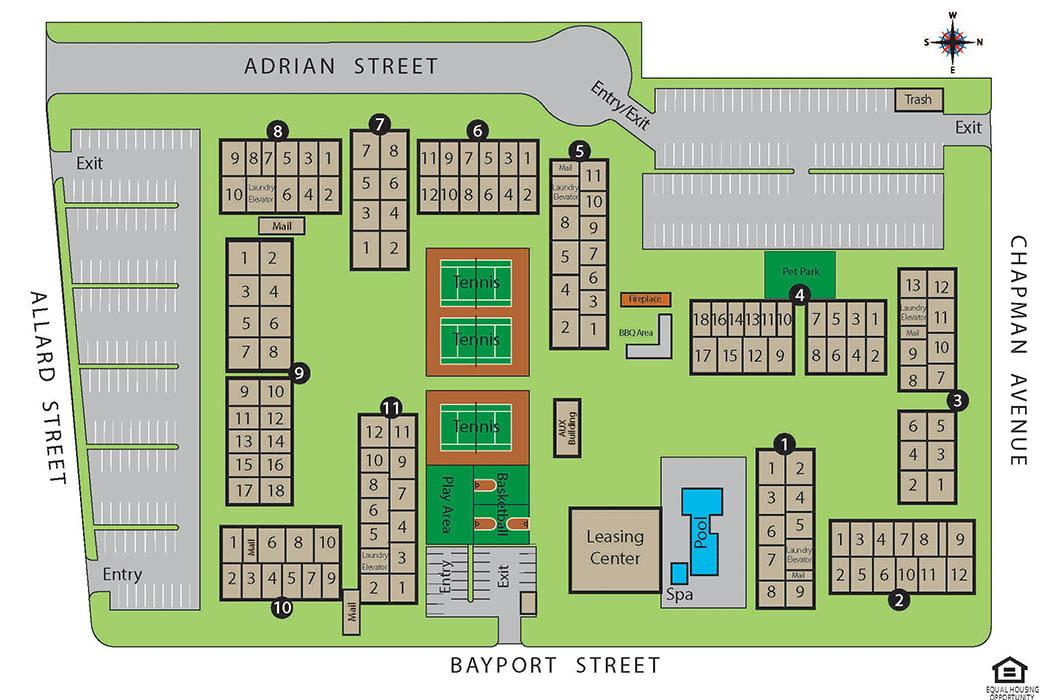 Sitemap for Crystal View Apartments