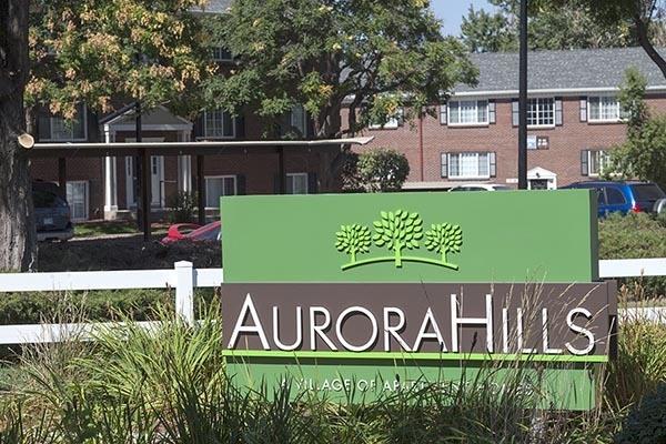 Sign At Our Aurora Apartment Rentals