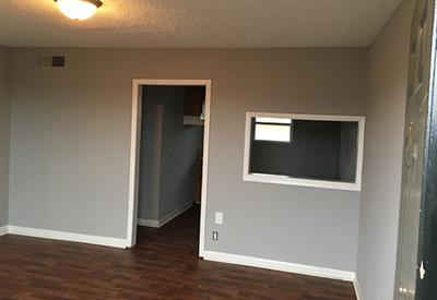 Hardwood floors in Village West affordable apartments in Nashville