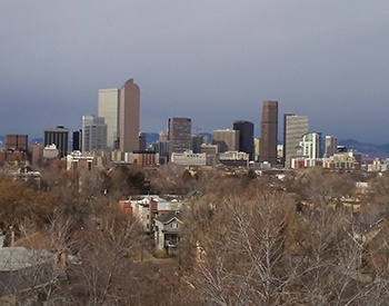 Denver views from your new senior apartment home at William Tell Apartments