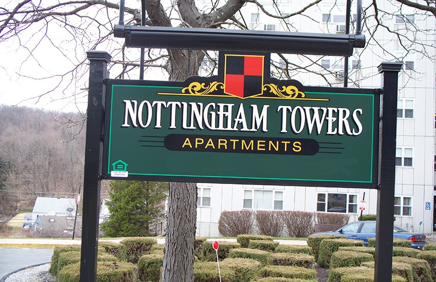 Nottingham Tower Apartments in Waterbury is situated in a nice neighborhood.