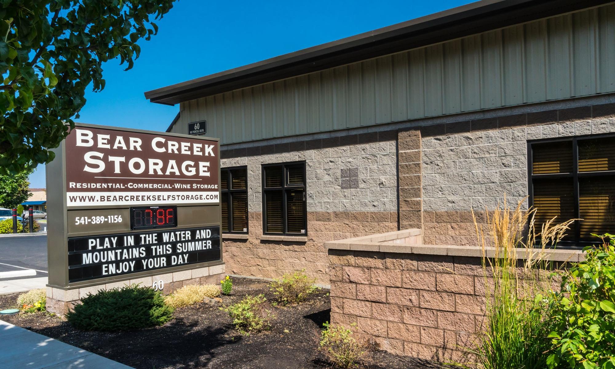 Self storage in Bend OR & Self Storage Units Eastside Bend OR | Bear Creek Storage