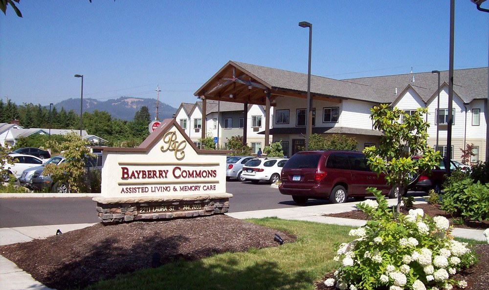 Front entry at Bayberry Commons Assisted Living and Memory Care