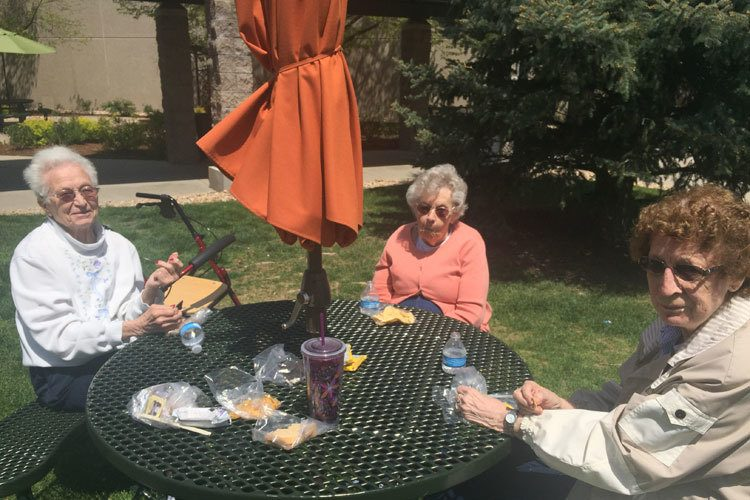 Enjoy the outdoors at Garden Square of Greeley Assisted Living and Memory Care