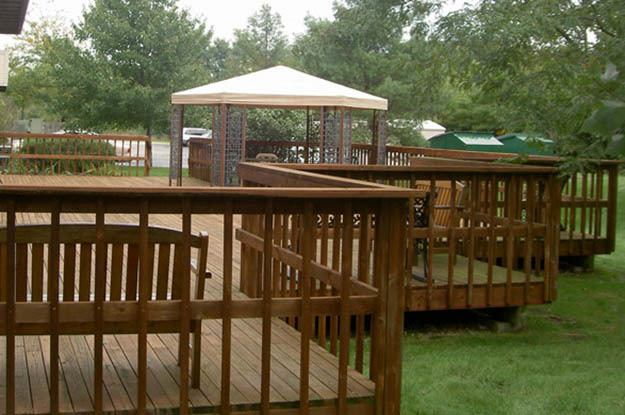 Back deck at Wood Ridge Assisted Living