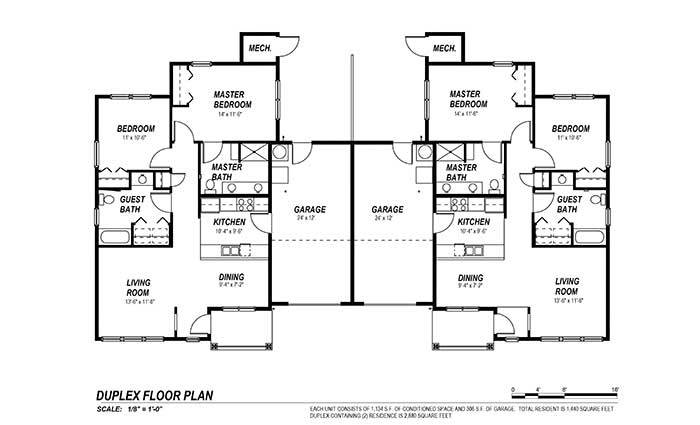 duplex plans for seniors