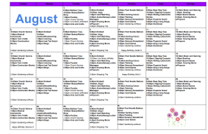 August Calendar Image 2014