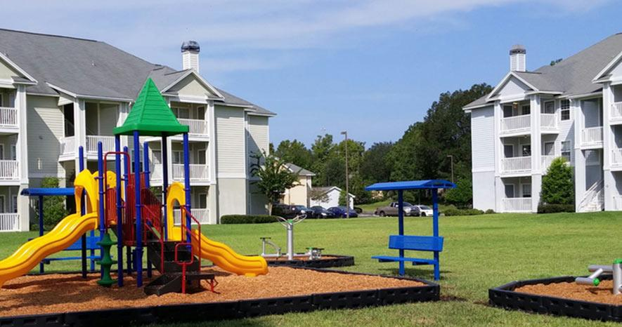 Landings at Lake Gray children's play area in Jacksonville, FL