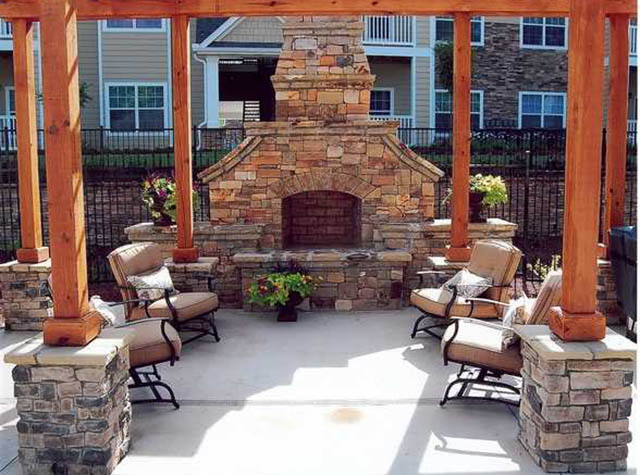 Fireplace at The Parke at Oakley