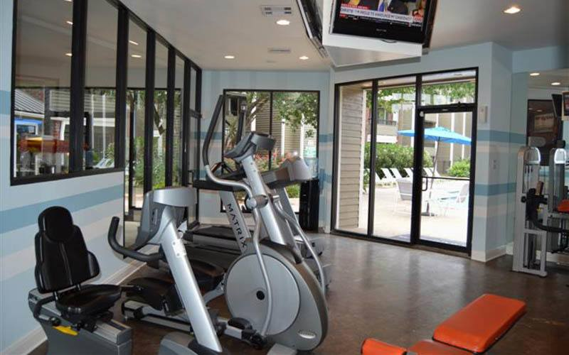 Well Equipped Fitness Center at Copperfield North in Houston, TX