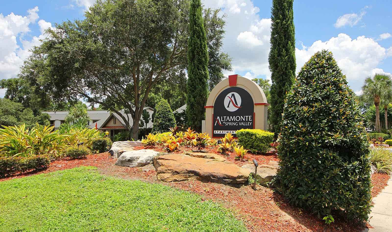Landscaped Signage at Altamonte at Spring Valley in Altamonte Springs, FL