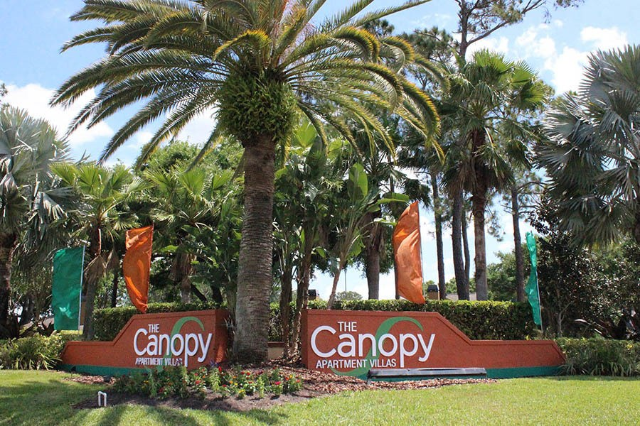 Signage at Canopy Apartment Villas in Orlando