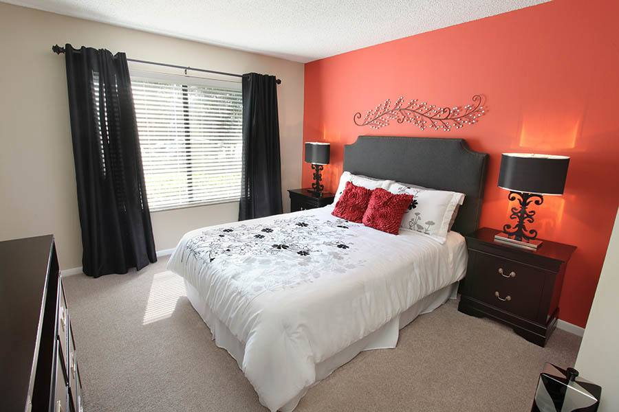 Bedroom at Lakes of Northdale Apartments in Tampa
