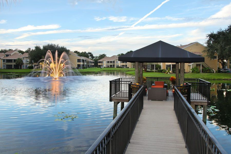Dock at Lakes of Northdale Apartments