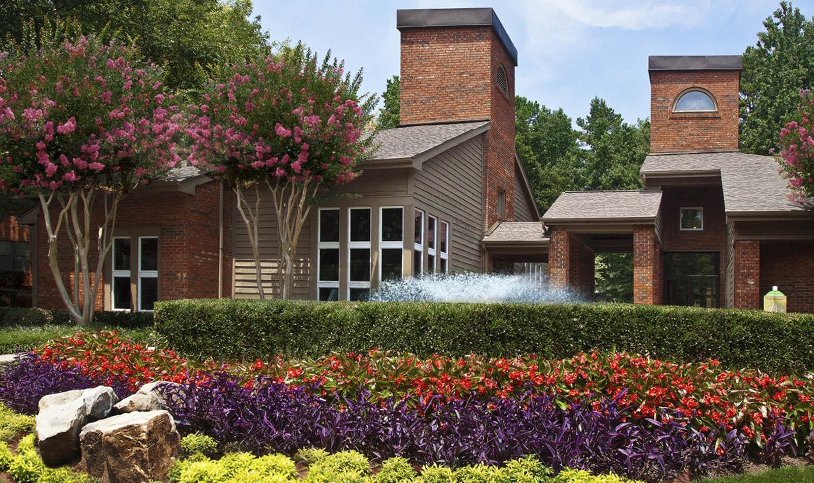 Landscaping Near Leasing Office at Paces Pointe in Matthews, NC