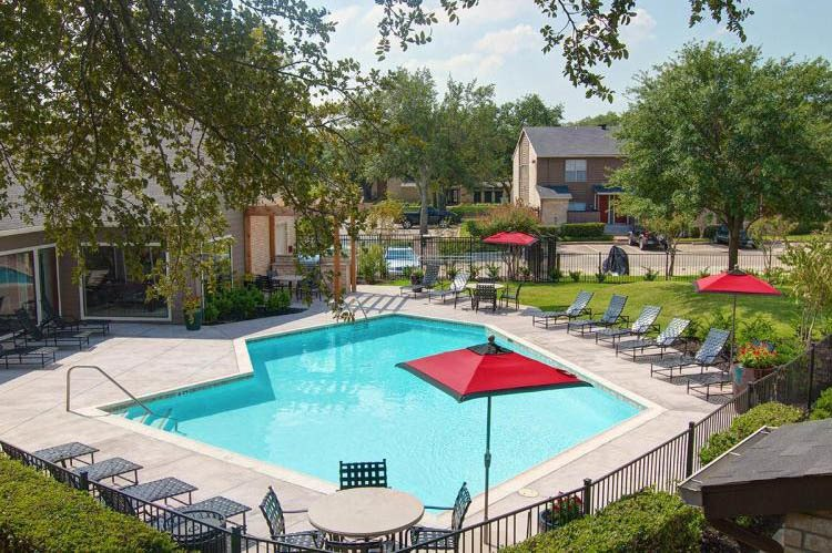 Pool at apartments in Houston