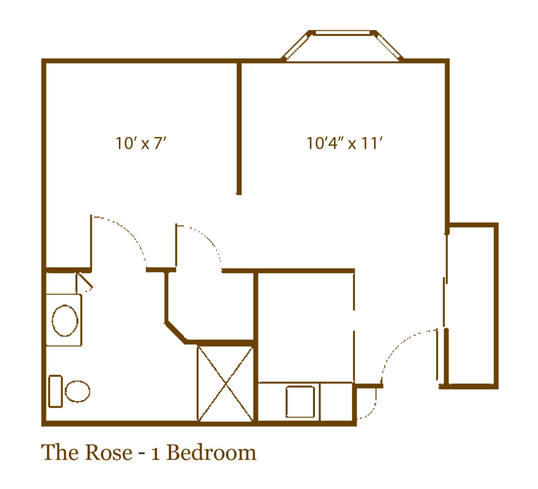 The Rose one bedroom