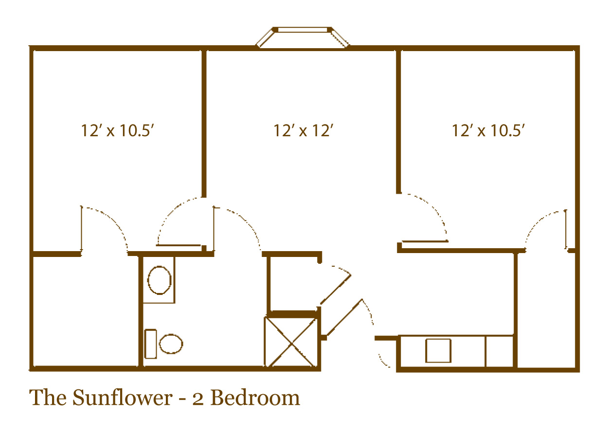 The Sunflower two bedroom apartment