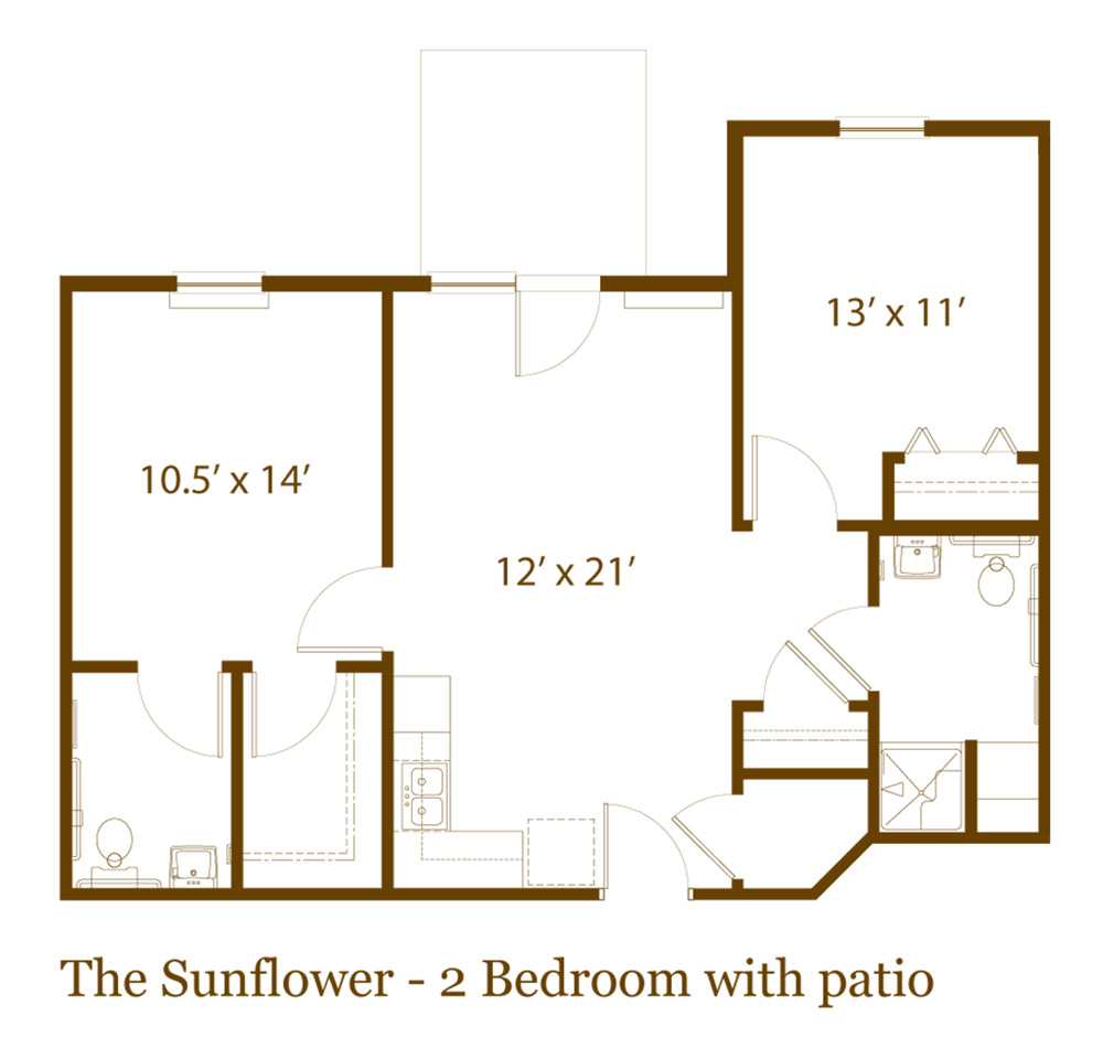 The Sunflower two bedroom