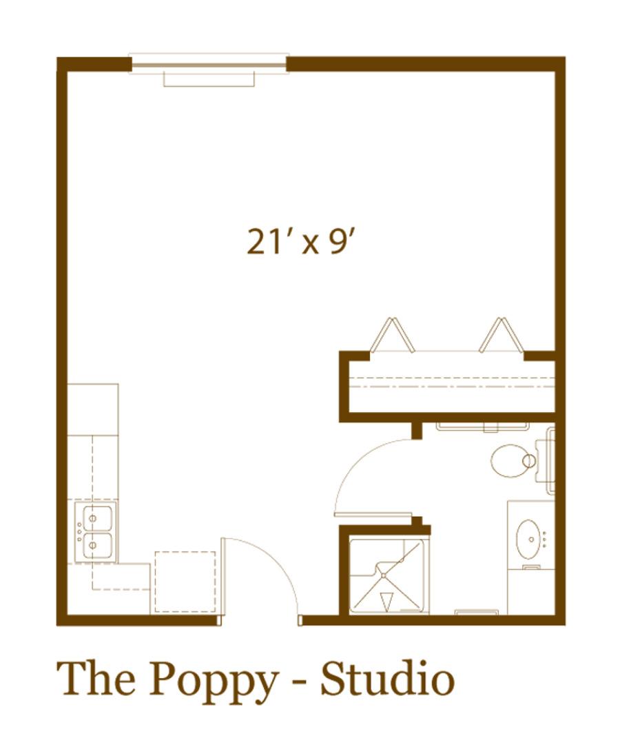 The Poppy studio apartment