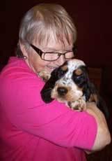 Janet Beaulieu with her dog