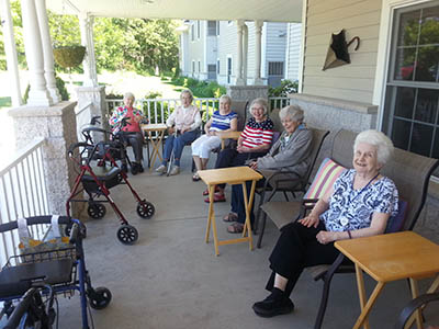 Patio at HeatherWood Assisted Living & Memory Care in WI
