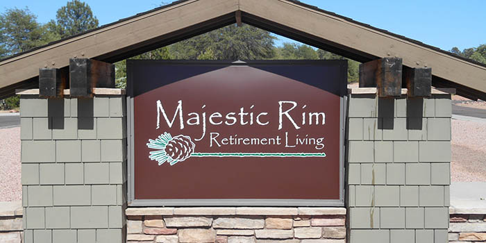 Signage at our senior living community