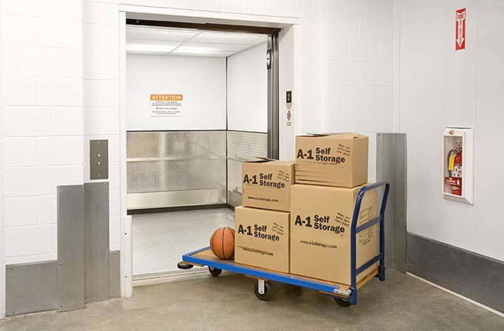 Large Self Storage Elevator at A-1 Self Storage in Santa Ana, CA
