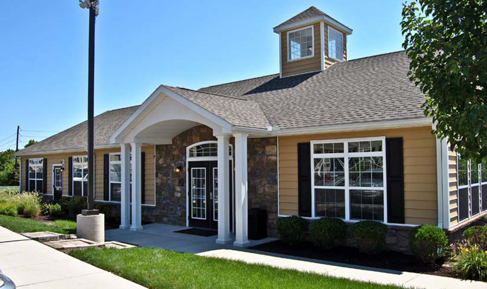 Exterior of the clubhouse at The Edge at Kutztown