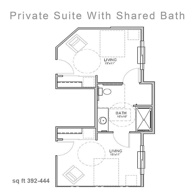 Private Suite W Shared Bath