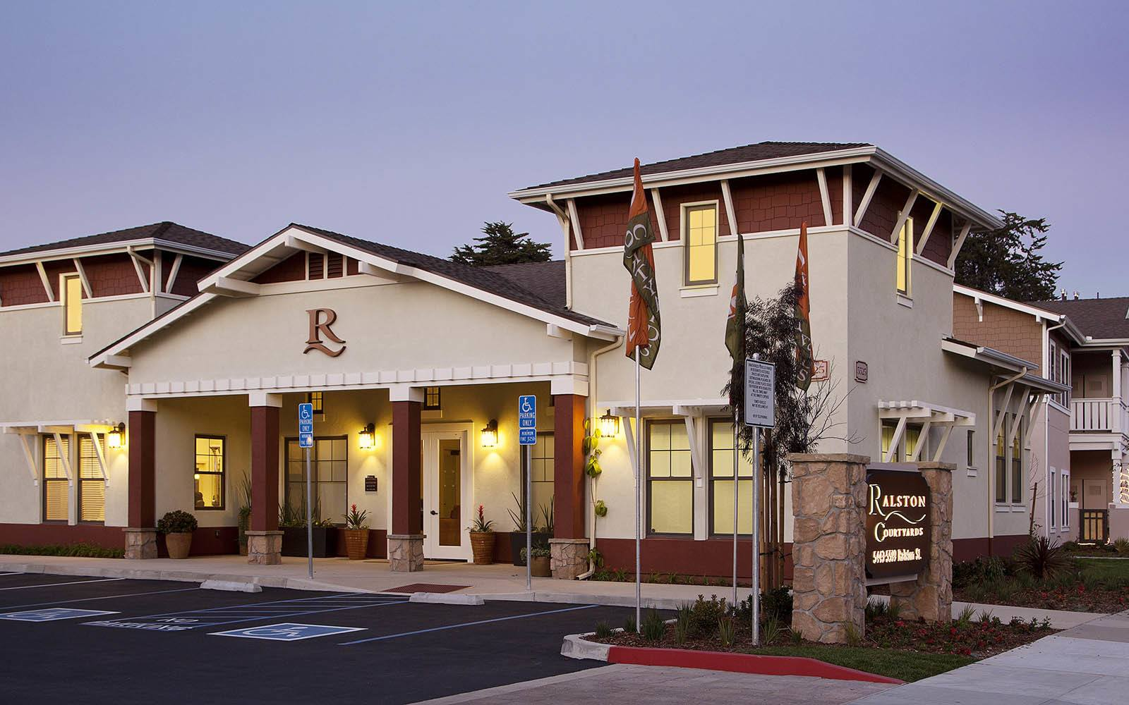 Leasing office at Ralston Courtyard Apartments in Ventura, CA