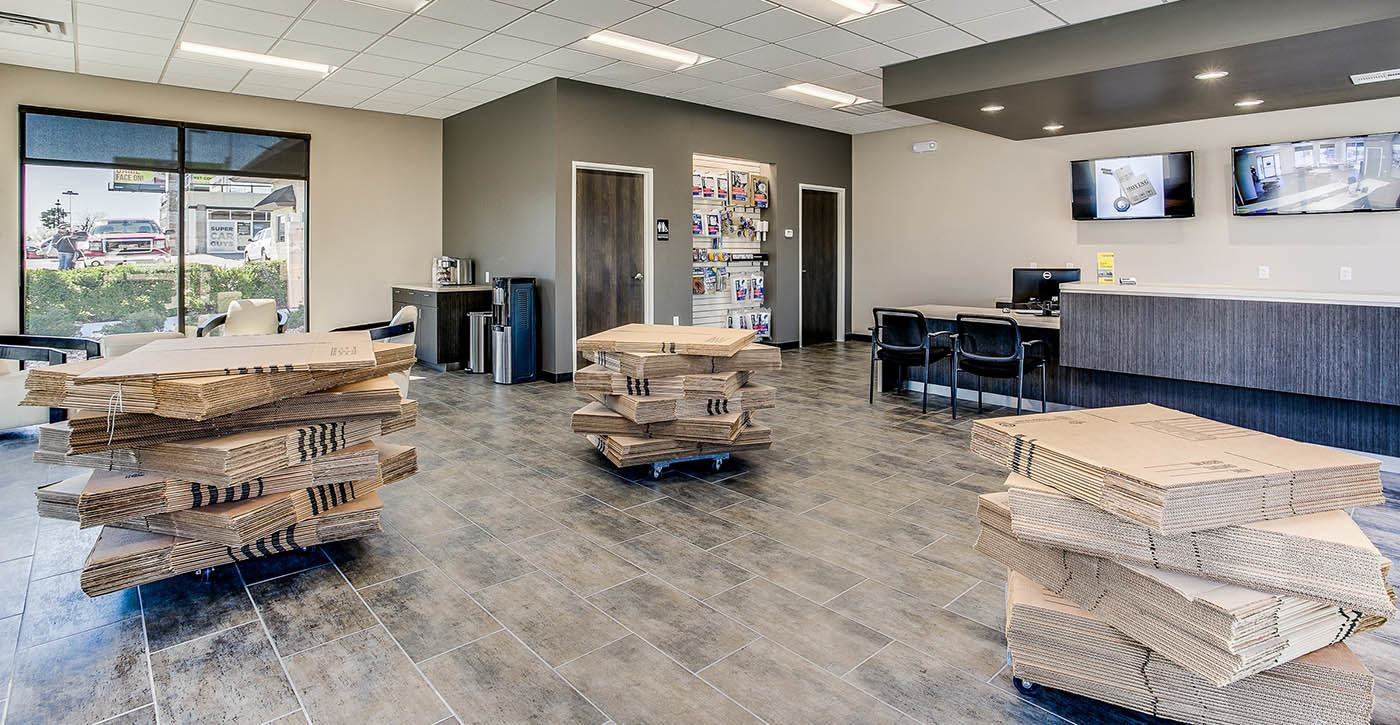Interior at self storage facility in Fort Worth
