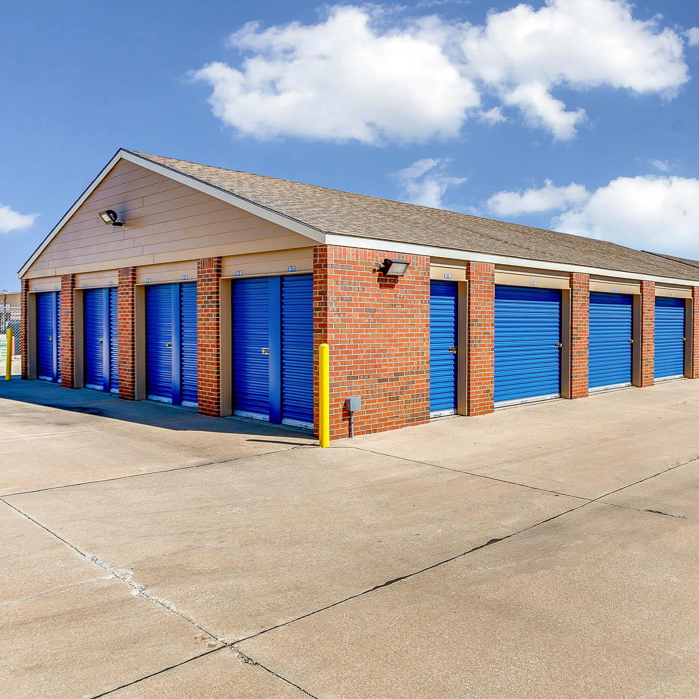 Outside units at Security Self-Storage