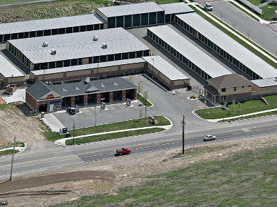 Aerial view of Towne Storage in Riverton, UT