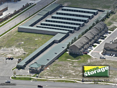 Aerial view of Towne Storage in Saratoga Springs, UT