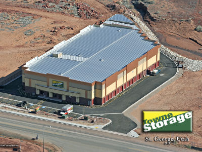Aerial view of Towne Storage in St George, UT