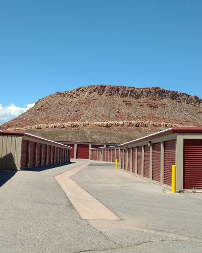 Exterior storage units at Towne Storage in Bluffdale, Utah