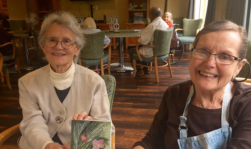 Happy residents at Merrill Gardens at First Hill