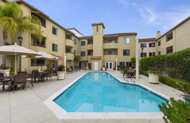 Pool at The Patrician, A Merrill Gardens Community in San Diego, CA