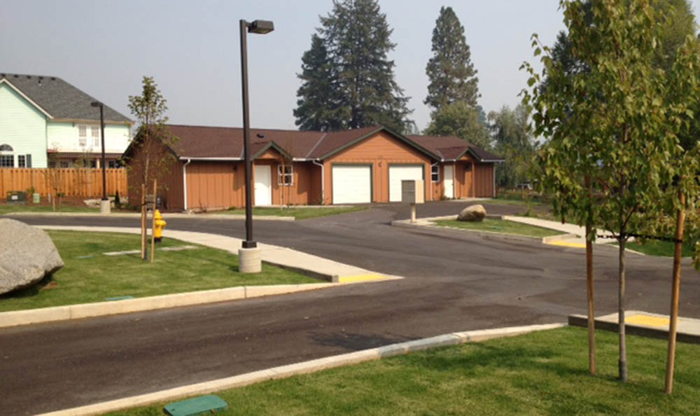 Exterior View Of Mountain Meadows Senior Living Campus Cottages