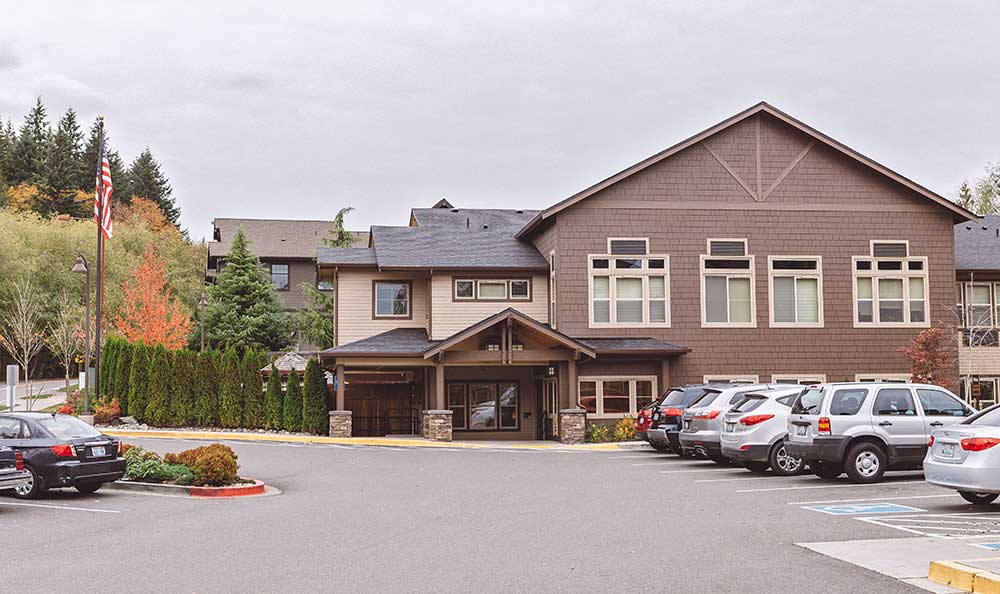 Exterior at The Lodge at Mallard's Landing in Gig Harbor, WA