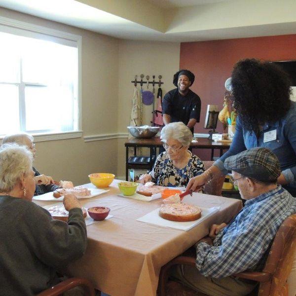 happy senior activity inside at Storey Oaks of Oklahoma City in Oklahoma City,OK